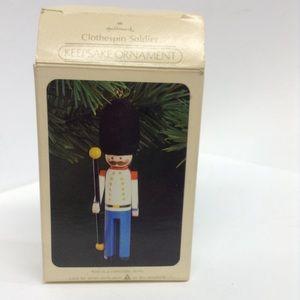 Hallmark Clothespin Soldier Ornament